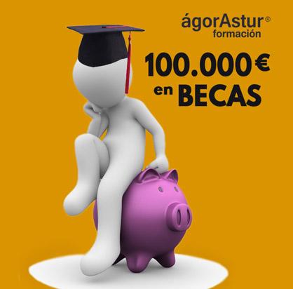 ágorAstur Formación. 100.000 Euros en BECAS